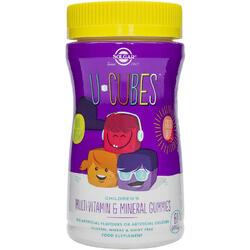 U-Cubes Multi-Vitamine Si Minerale Pentru Copii 60 jeleuri SOLGAR