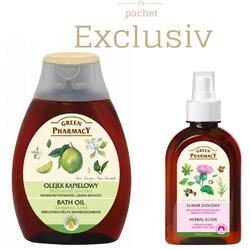 Pachet Ulei de Baie cu Portocale Bergamot si Lamaie Verde + Elixir din Plante Impotriva Caderii Parului 250ml GREEN PHARMACY
