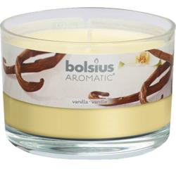 Lumanare Parfumata in Pahar Mare cu Capac Aroma Vanilie