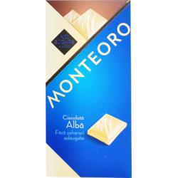Ciocolata Alba Fara Zahar Monteoro 90g