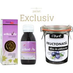 Antioxivita 100ml+Fructonata din Afine de Padure Ecologica/Bio 155g Rawe Pachet