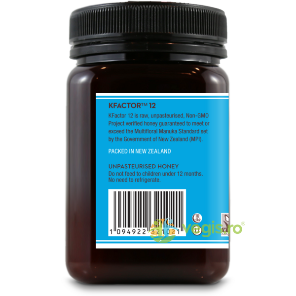 Miere De Manuka KFactor 12 RAW 100% Naturala 500g WEDDERSPOON